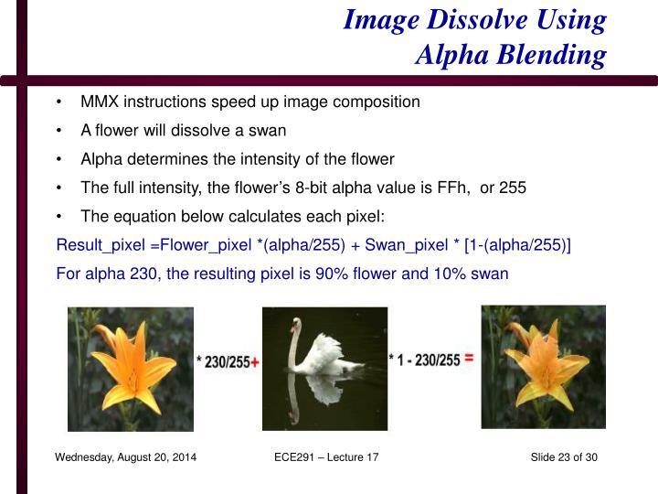 Image Dissolve Using