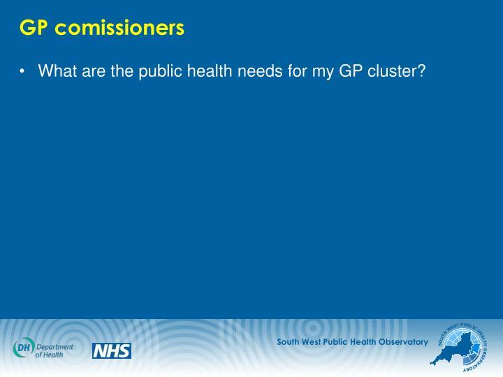 GP comissioners