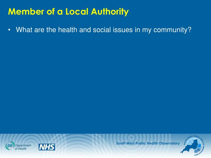 Member of a Local Authority