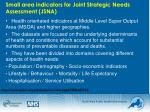 small area indicators for joint strategic needs assessment jsna
