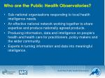 who are the public health observatories