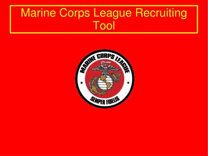 Marine Corps League Recruiting Tool