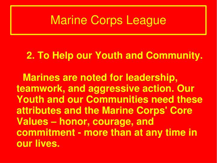 2. To Help our Youth and Community.