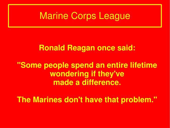 Ronald Reagan once said: