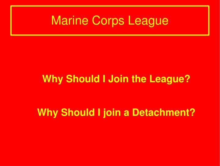 Why Should I Join the League?