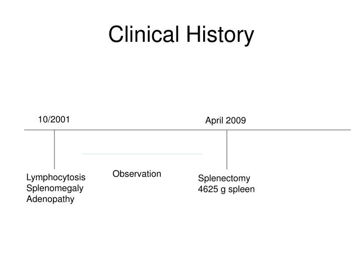 Clinical History