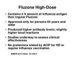 fluzone high dose