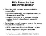 mcv revaccination recommendations