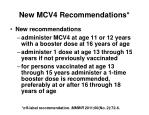 new mcv4 recommendations1