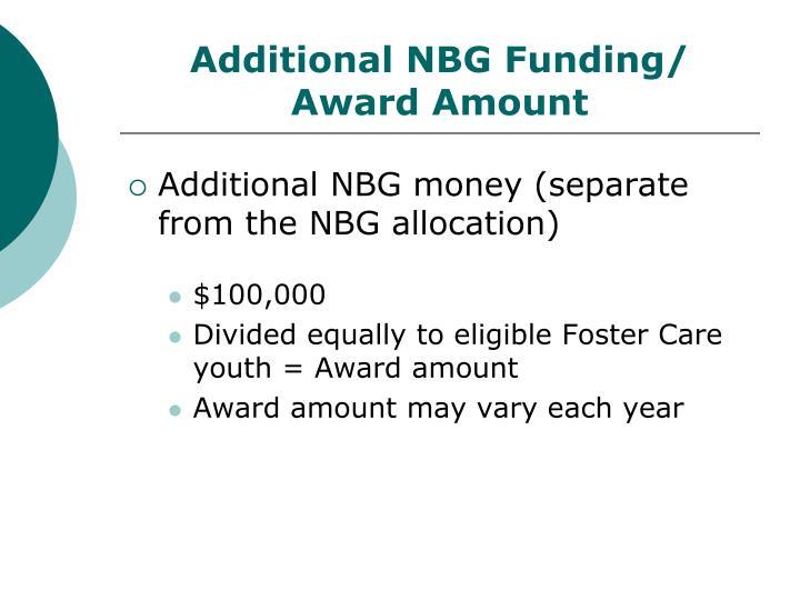Additional NBG Funding/