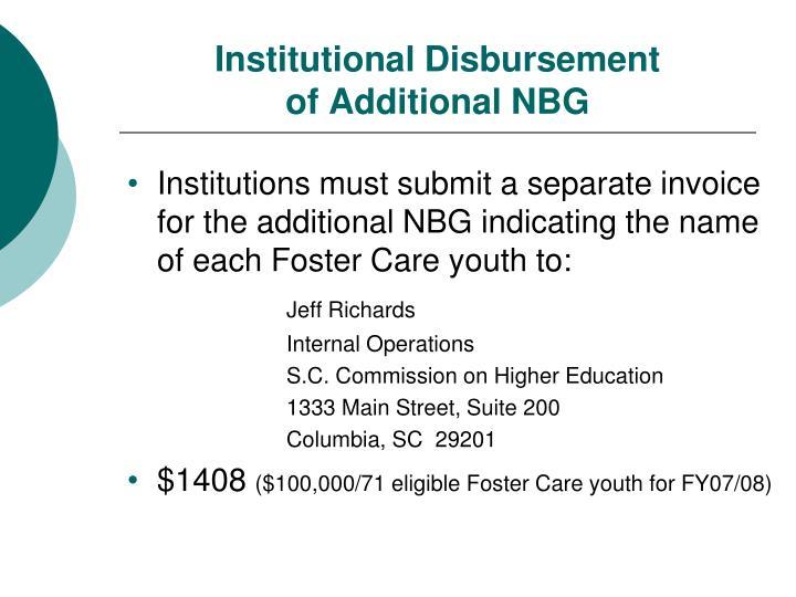 Institutional Disbursement