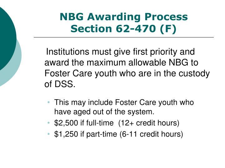 NBG Awarding Process