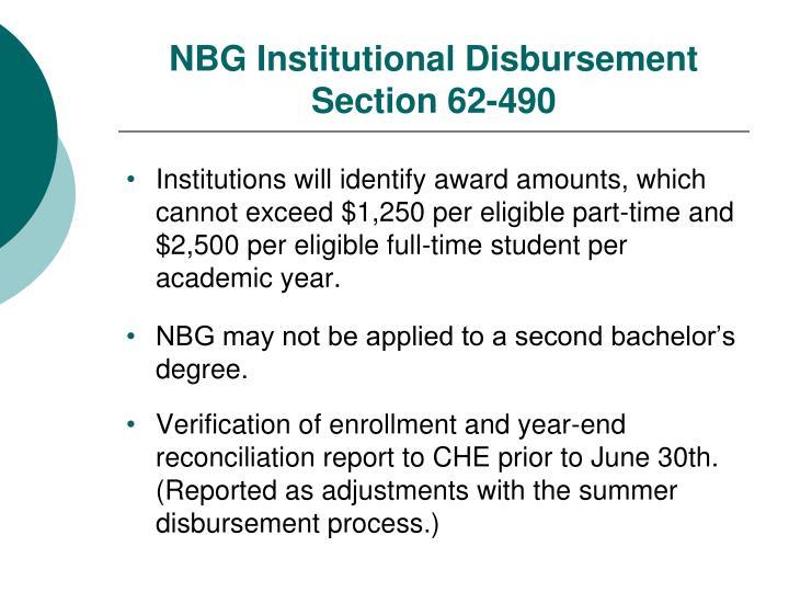 NBG Institutional Disbursement