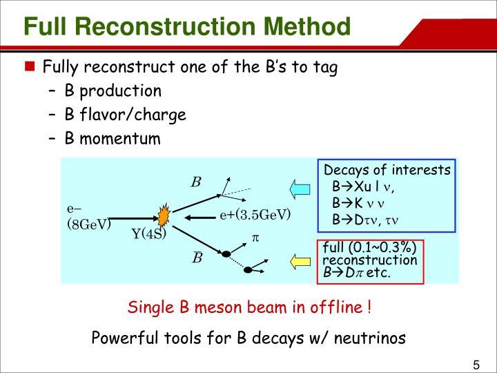 Full Reconstruction Method