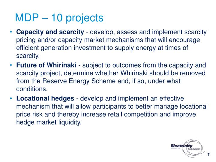 MDP – 10 projects