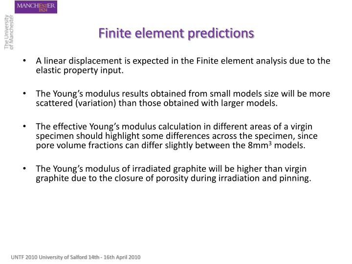 Finite element predictions
