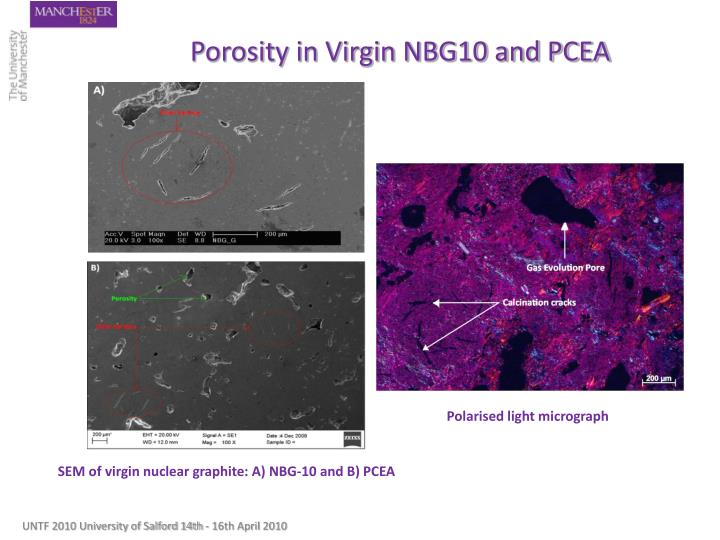 Porosity in Virgin NBG10 and PCEA
