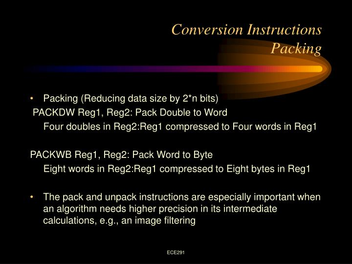 Conversion Instructions