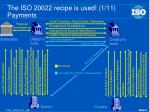 the iso 20022 recipe is used 1 11 payments