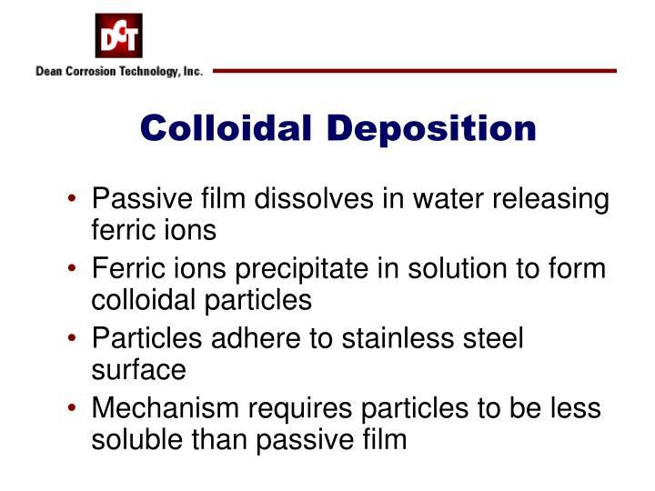Colloidal Deposition