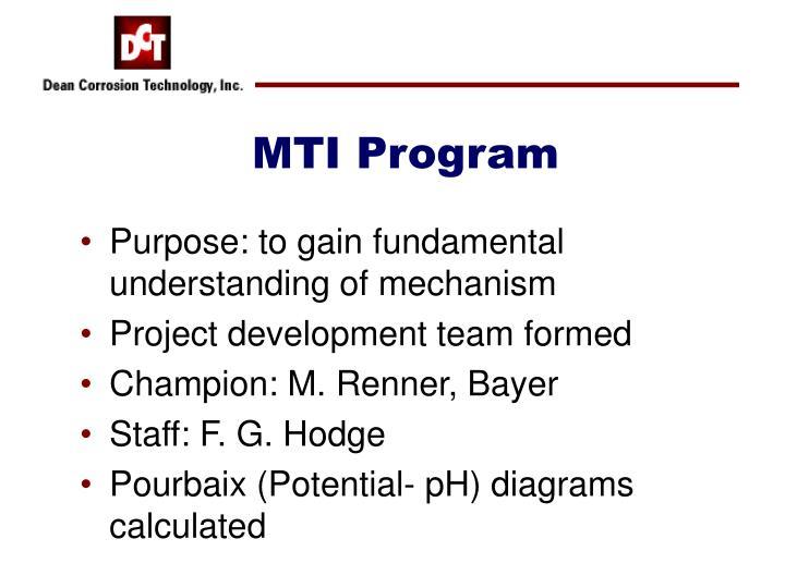 MTI Program