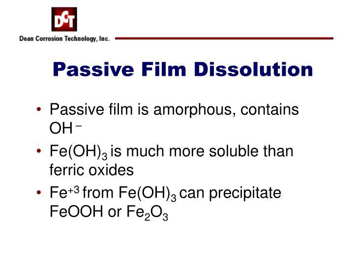 Passive Film Dissolution