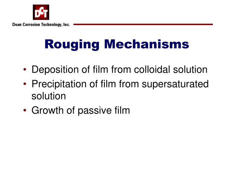 Rouging Mechanisms