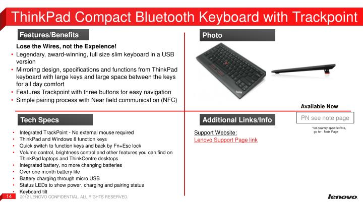 ThinkPad Compact Bluetooth Keyboard with