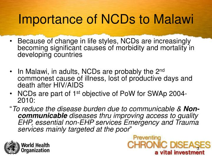 Importance of NCDs to Malawi