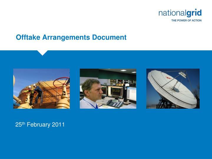 offtake arrangements document