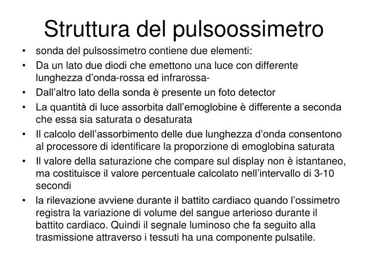 Struttura del pulsoossimetro