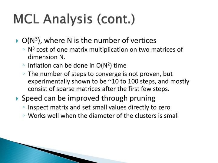 MCL Analysis (cont.)