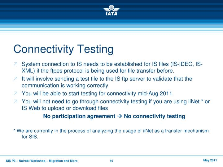 Connectivity Testing