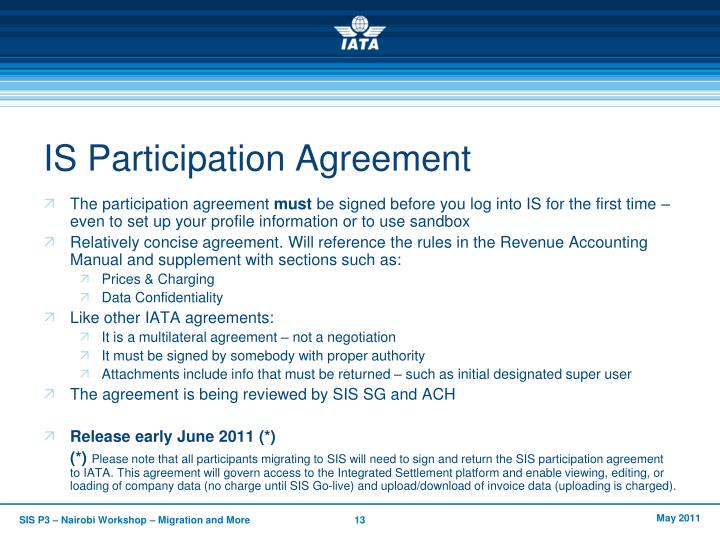 IS Participation Agreement