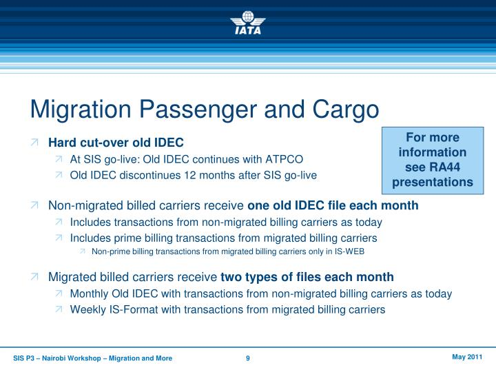 Migration Passenger and Cargo