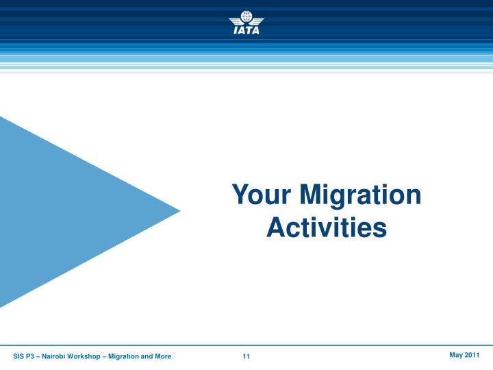 Your Migration Activities