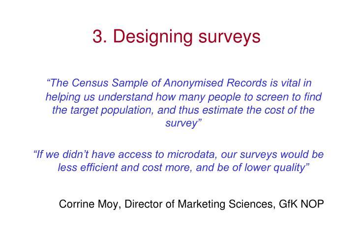 3. Designing surveys