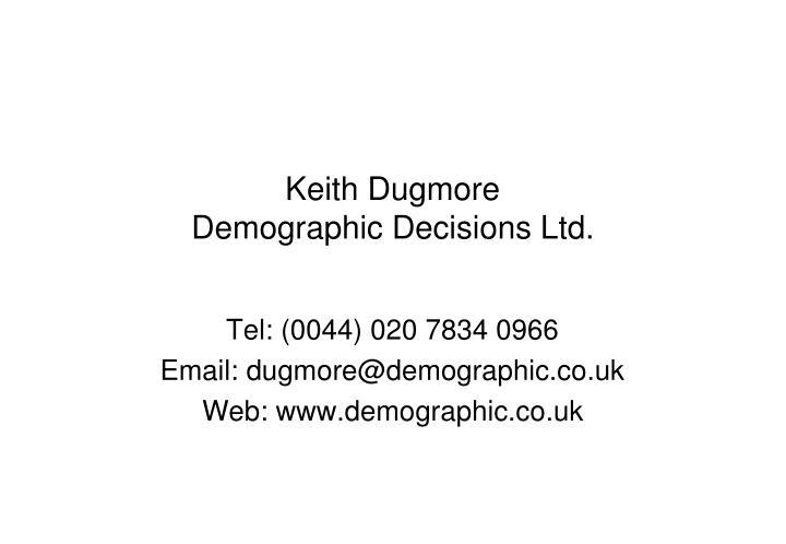 Keith Dugmore