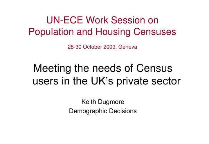 UN-ECE Work Session on
