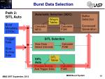 burst data selection5