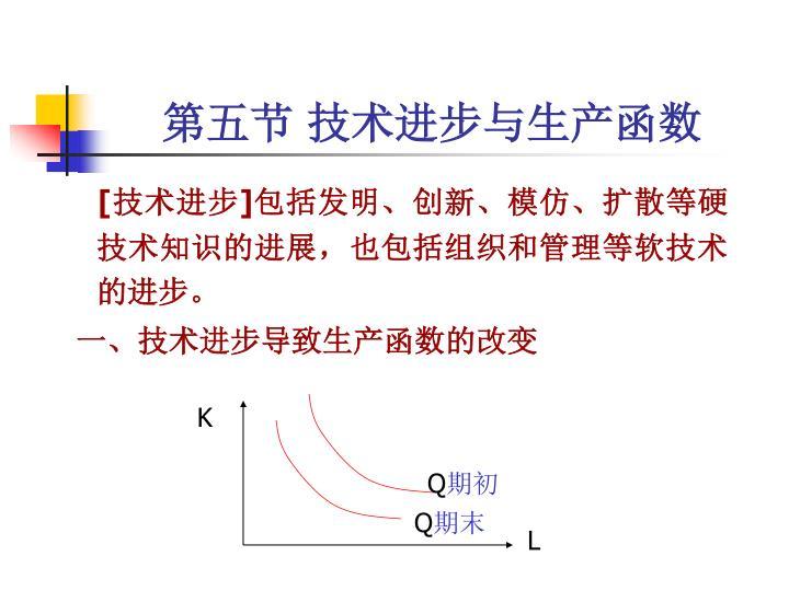 第五节 技术进步与生产函数