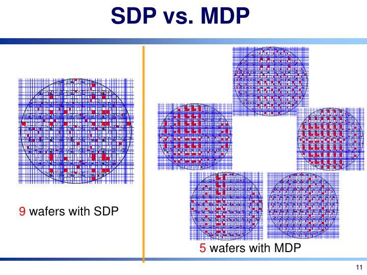 SDP vs. MDP