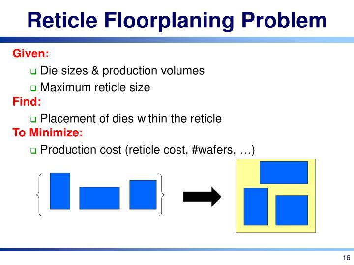 Reticle Floorplaning Problem