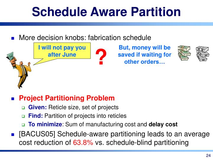 Schedule Aware Partition