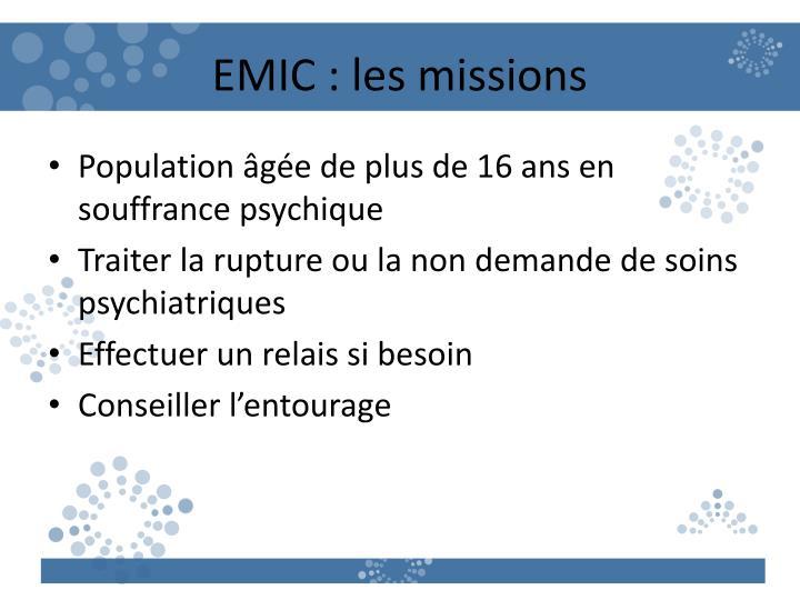 EMIC : les missions