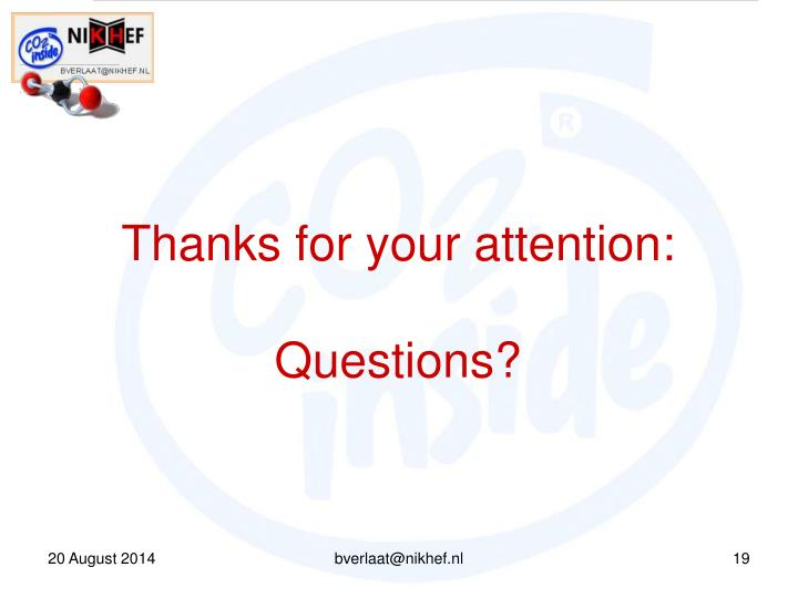 Thanks for your attention: