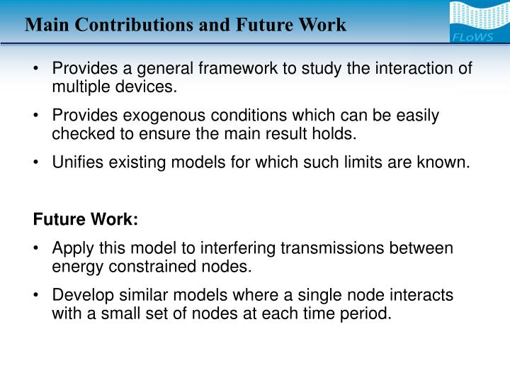 Main Contributions and Future Work
