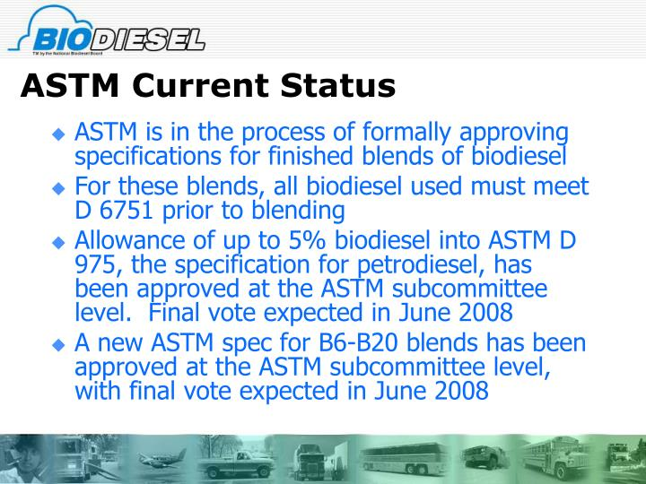 ASTM Current Status