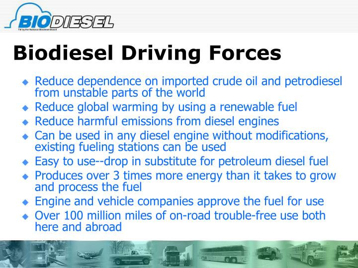 Biodiesel driving forces