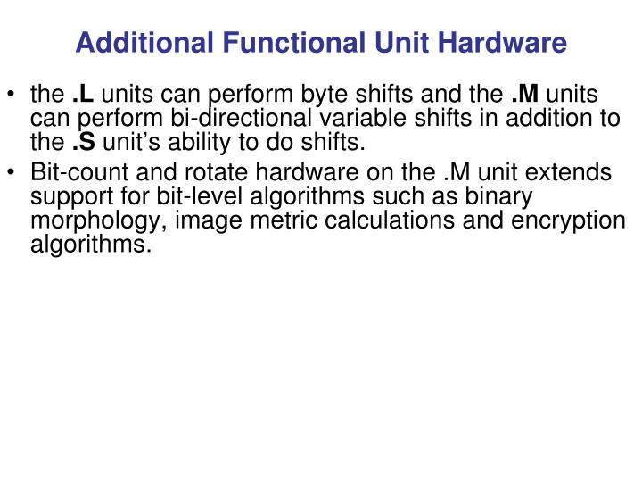 Additional Functional Unit Hardware